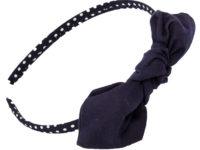 Mon serre-tête nœud vichy bleu