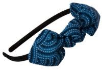 Mon serre-tête nœud série limitée pointillés bleu et noir