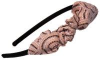 Mon serre-tête nœud série limitée pointillés rose et noir