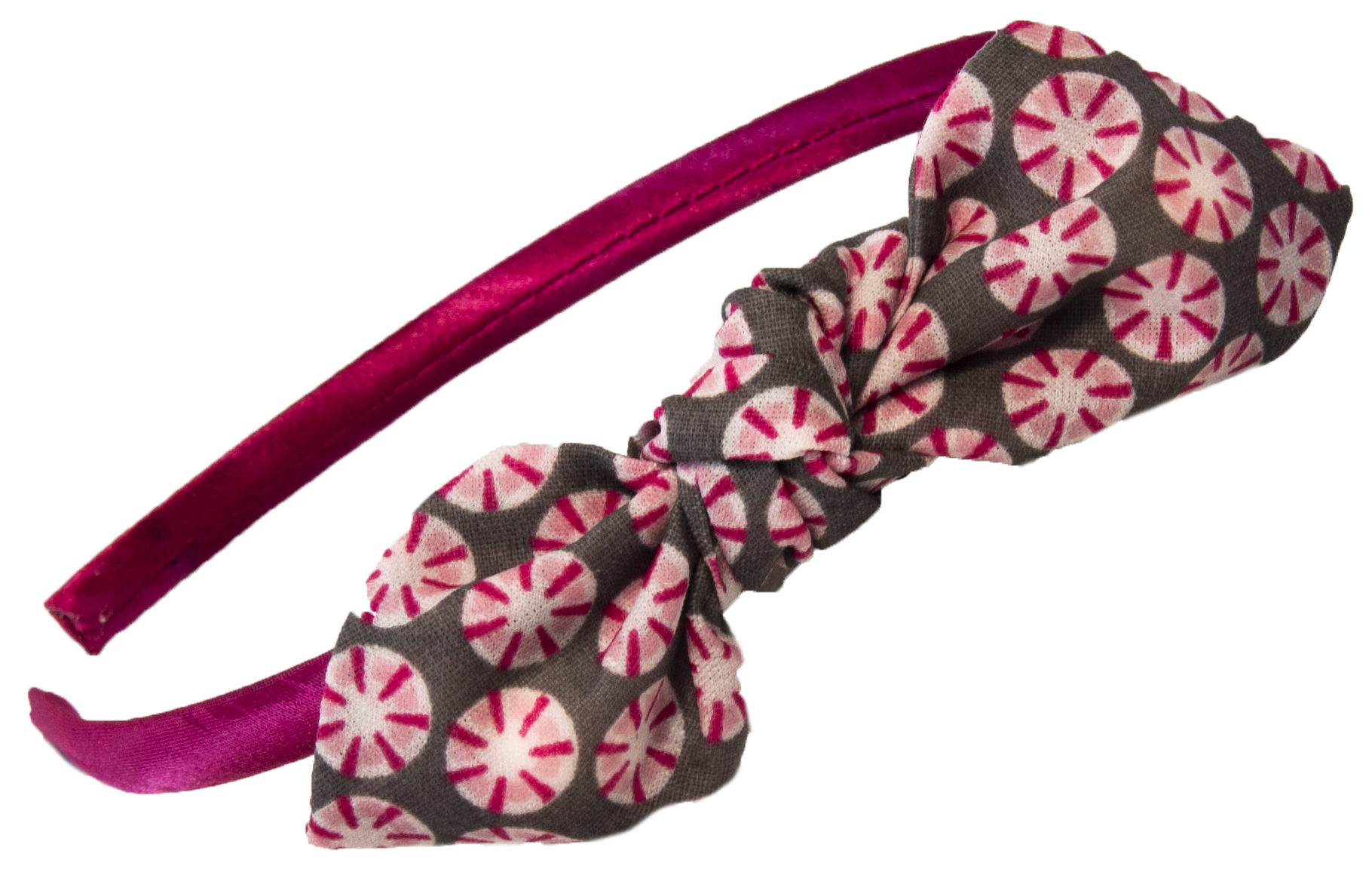 506610d6128 Mon serre-tête nœud série limitée rosasse grise et rose - ADIPOUX